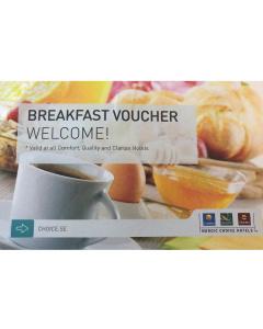 Frukostbiljetter för 2 personer